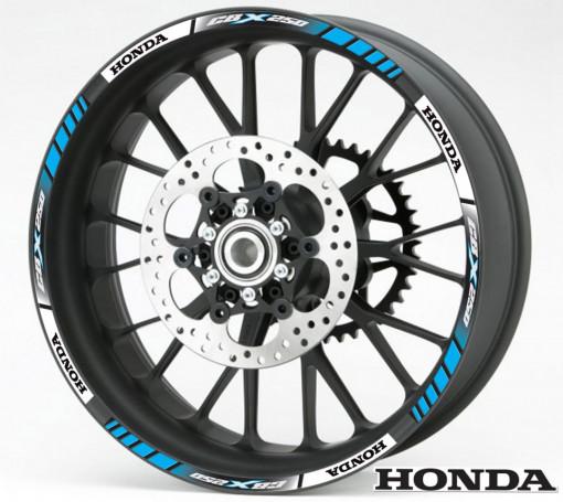 Rim Stripes - Honda CBX 250 albastru