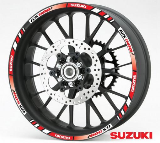 Rim Stripes - Suzuki GS500f rosu