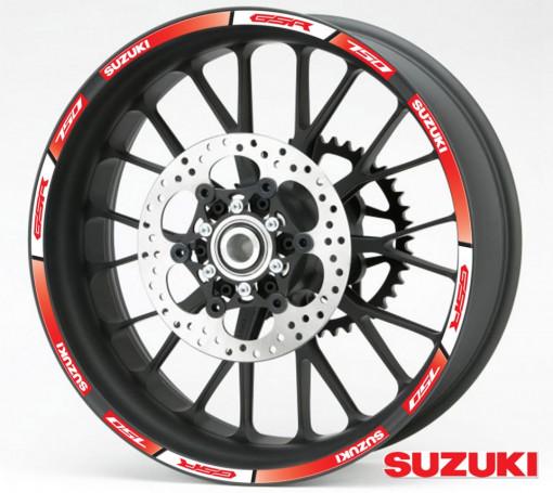 Rim Stripes - Suzuki GSR 750 rosu