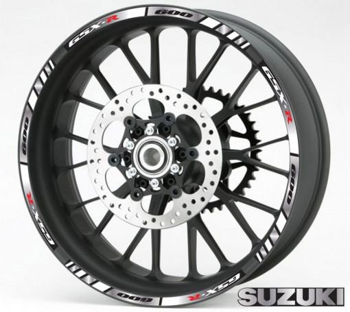 Rim Stripes - Suzuki GSX-R 600 argintiu