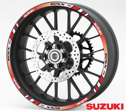 Rim Stripes - Suzuki GSX-S rosu