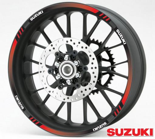 Rim Stripes - Suzuki rosu