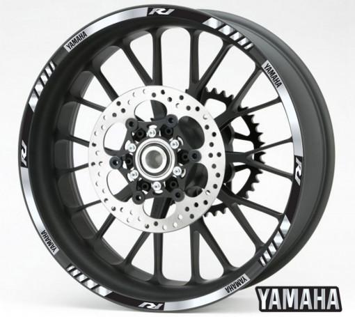 Rim Stripes - Yamaha R1 argintiu
