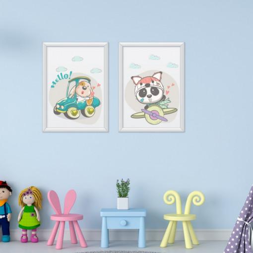 Set 2 tablouri - Animalutele fericite