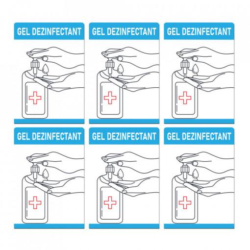 Set Stickere - Autocolante Informare si atentionare Coronavirus - Covid-19, Model 8