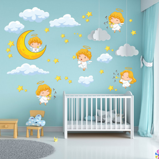 Set stickere decorative perete copii - Ingerasii5 , 60x90 cm