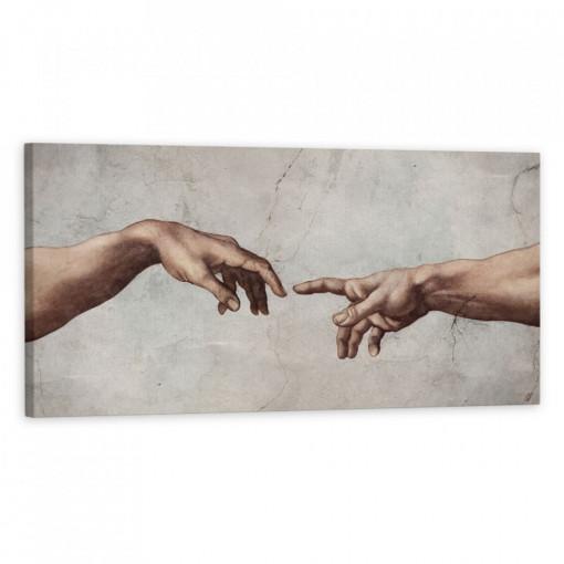 Tablou Canvas, Hands reaching color