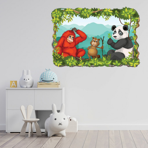 3D Sticker perete - Animale salbatice3