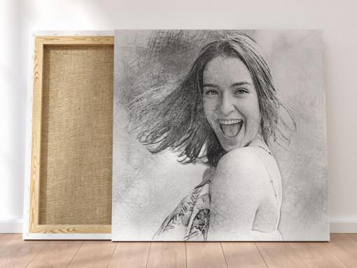 Canvas Personalizat - Efect Schita