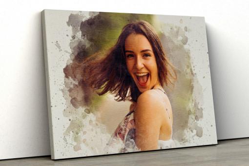 Canvas Personalizat - Efect Watercolor
