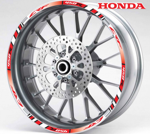 Rim Stripes - Honda CRF 450R rosu