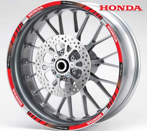 Rim Stripes - Honda Hornet rosu