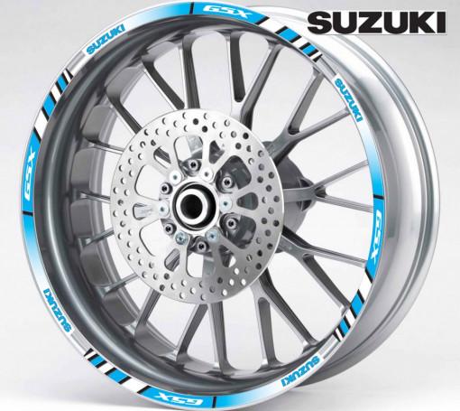 Rim Stripes - Suzuki GSX albastru