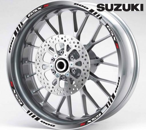 Rim Stripes - Suzuki GSX-S 600 negru