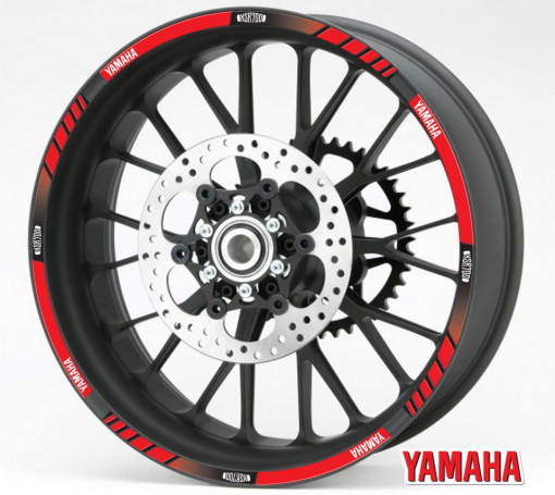 Rim Stripes - Yamaha XSR700 rosu