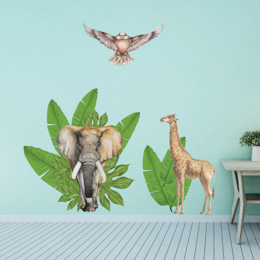 Set stickere decorative perete copii - ForestLand, 60x90cm