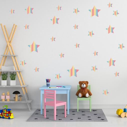 Set stickere decorative perete - Stelute 19, 60x60cm