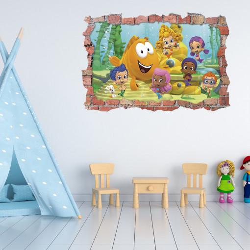 3D Sticker perete 60x90cm - Bubble Guppies