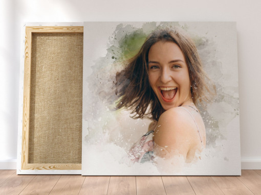 Canvas Personalizat - Efect Watercolor Splash
