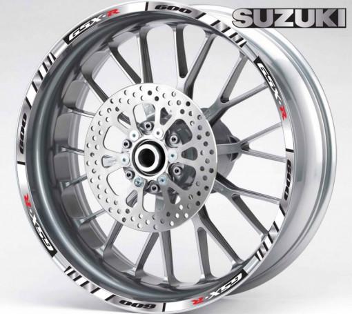 Rim Stripes - Suzuki GSX-R 1000 argintiu