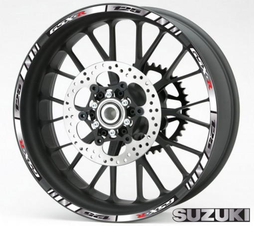 Rim Stripes - Suzuki GSX-R 125 argintiu
