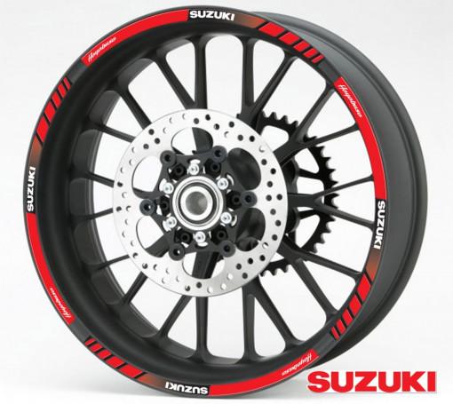 Rim Stripes - Suzuki Hayabusa rosu