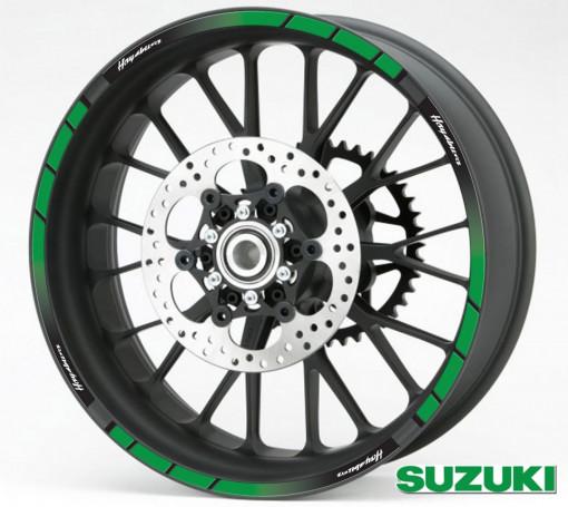 Rim Stripes - Suzuki Hayabusa verde
