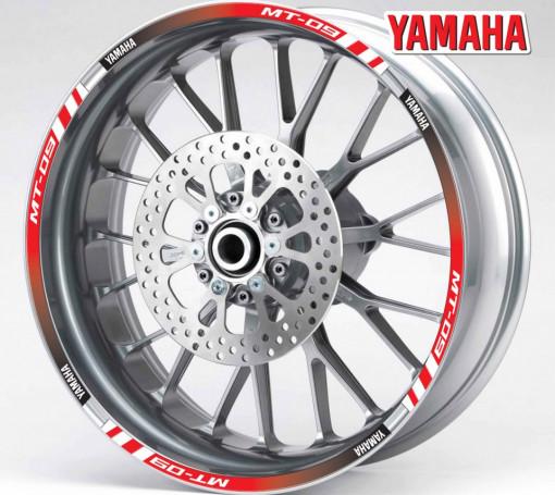 Rim Stripes - Yamaha MT-09 rosu