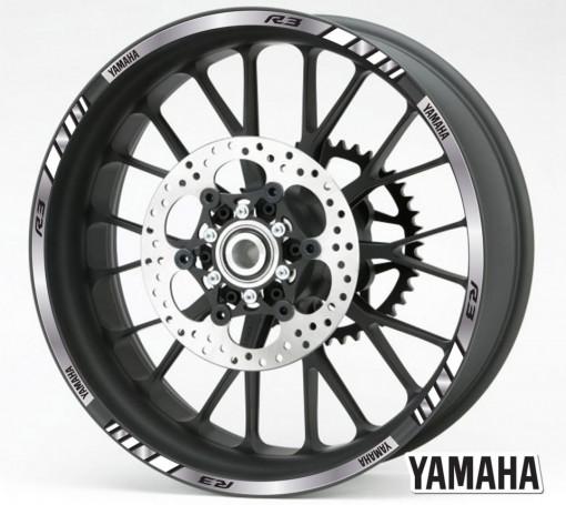 Rim Stripes - Yamaha R3 argintiu