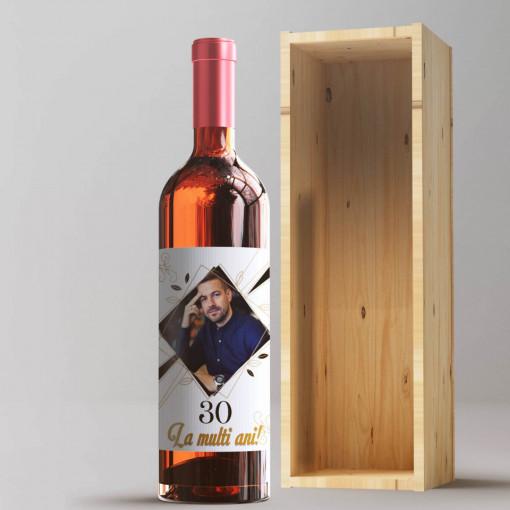 Sticla vin Personalizata - Poza, ani si mesaj