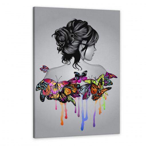 Tablou Canvas, Femeia Fluture