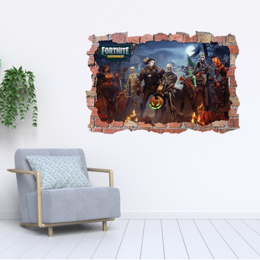 3D Sticker perete 60x90cm - Fortnite 5
