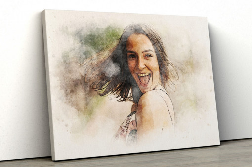 Canvas Personalizat - Efect de Portret desenat
