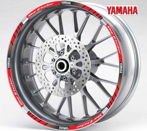 Rim Stripes - Yamaha Star Eluder rosu