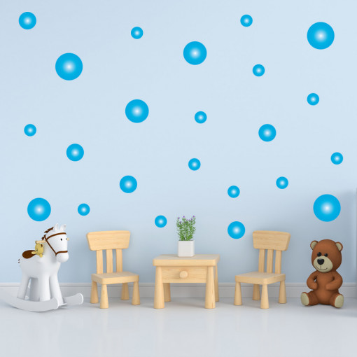 Set stickere decorative perete - Cercuri18, 60x60cm