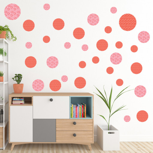 Set stickere decorative perete - Cercuri8, 60x60cm