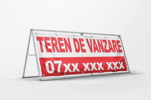 Banner personalizat - Teren de vanzare