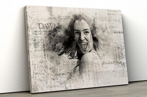Canvas Personalizat - Efect de Ziar