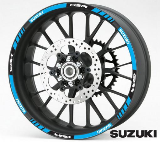 Rim Stripes - Suzuki GSR albastru