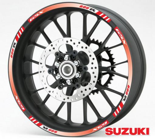 Rim Stripes - Suzuki GSX 600R rosu