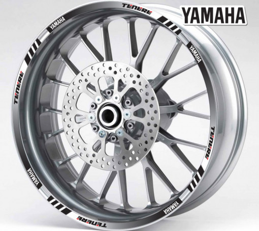 Rim Stripes - Yamaha Tenere negru