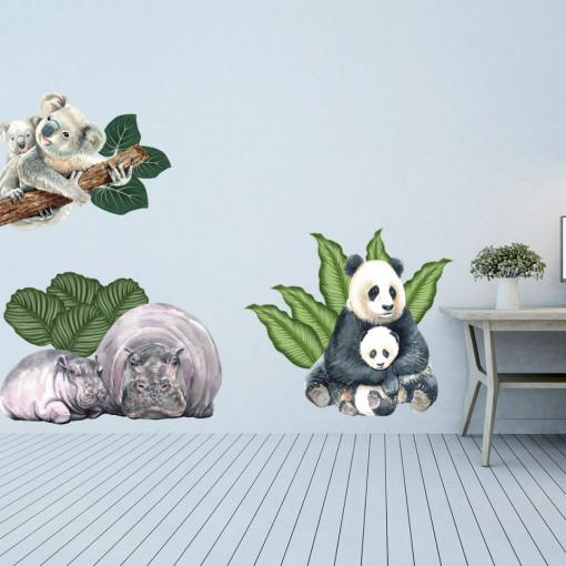 Set stickere decorative perete copii - GreenLand2, 60x90cm
