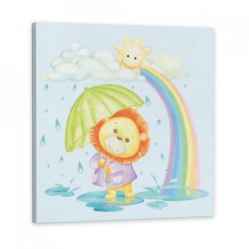 Tablou Canvas, Leul cu umbreluta