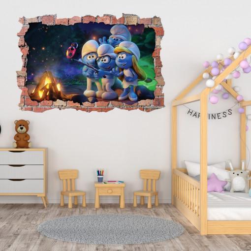 3D Sticker perete 60x90cm - Smurf 2