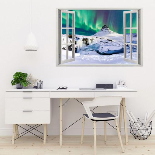 Fereastra 3D, Sticker perete - Peisaj polar
