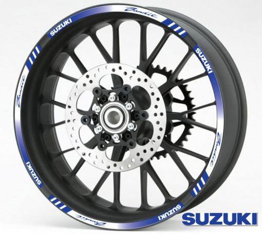 Rim Stripes - Suzuki Bandit albastru