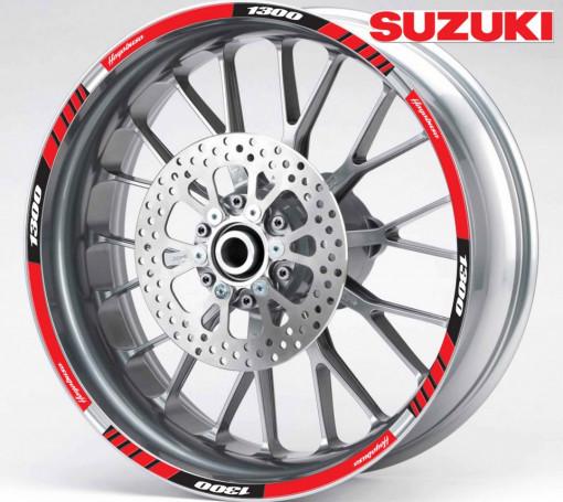 Rim Stripes - Suzuki Hayabusa 1300 rosu