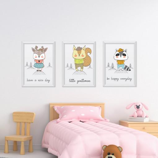 Set 3 tablouri - Animale