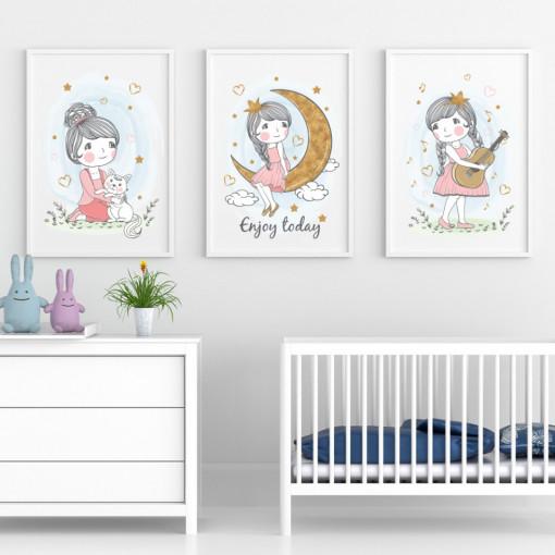 Set 3 tablouri - Fetita