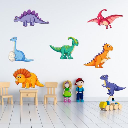 Set stickere decorative perete copii - Dinozauri
